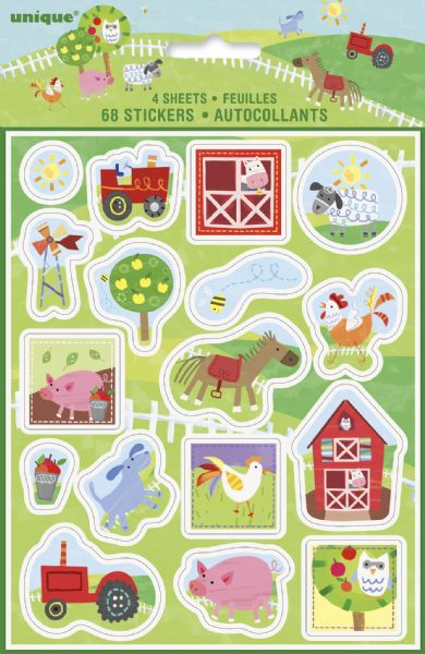 Farm Party Sticker Sheets (4)